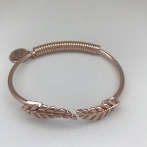Kinsley Armelle pink gold tone leaf bracelet
